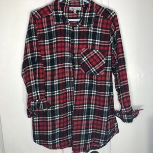 XL- Red Plaid Button Up